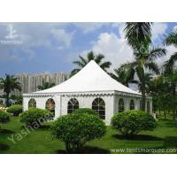 China Recreation White PVC Fabric Cover High Peak Tents for Fun on Grassland wholesale