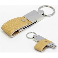 Buy cheap OEM Gift Leather USB Flash Drive , 16GB Usb Flash Drive Leather Case Brown from wholesalers