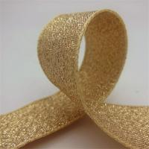 China Durable Gold Glitter Ribbon , Grosgrain Fabric Gift Packaging Ribbon wholesale