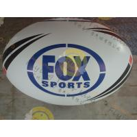 China Attractive 1.5m Inflatable Rugby Ball Helium PVC Wind - Resistant wholesale