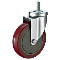 China Double Ball Bearing Industrial Caster Wheels With Threaded Stem Mounted wholesale