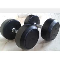 China Environmental Rubber Coated Dumbbells / Durable Gym Fitness Accessories wholesale