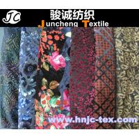 China New burnout various style polyester fabric miro velvet fabric women apparel fabric wholesale