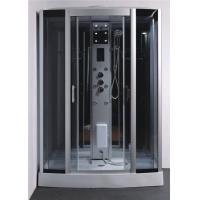 China Tempered Glass Rectangle Steam Shower Tub Combo With Computer Controlled wholesale