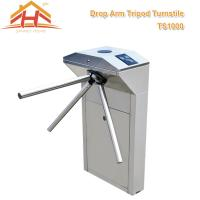 China Biometric Drop Arm Tripod Turnstile Gate RFID Reader And SUS304 Stainless Steel wholesale