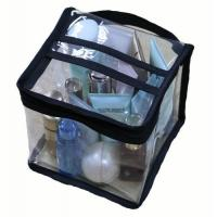 Multi Functional Cosmetic Storage Organizer Bags Square Shaped With Clear PVC Vinyl Material