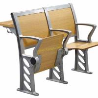 China Simple Style Wood Seating Chair And Desk Set For Lecture Hall / Classroom wholesale