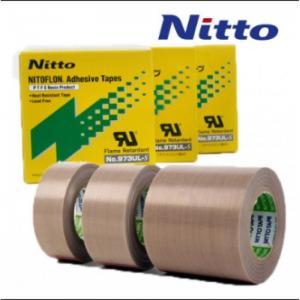 China Nitto 973UL High Temperature PTFE PTFE Fiberglass Tape with Silicone Adhesive wholesale