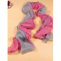 China 2013 new fashion pink and gray gradient color Hand Painted Silk Scarf/chiffon scarves shawls wholesale