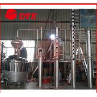 China 200L - 5000L Red Copper Alcohol Distiller , Whiskey Distilling Equipment wholesale