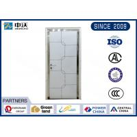 China High Strength White Insulated Fire Door With Wooden Leaf Impact Resistance wholesale
