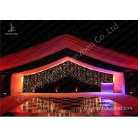 China Luxury Marquees For Weddings Decorated with Noble and Gorgeous Linings and Lightings wholesale