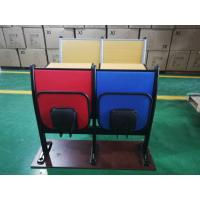 China Metal Frame Soft Foam School Desk And Chair With Foldable Iron Writing Pad wholesale