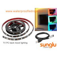 China USB 5V 8mm 5050 RGB LED Strip Lights Colour Changing Laptop PC Back Mood Lighting wholesale