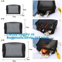 Buy cheap Women's cosmetics Travel cosmetic bag,Nylon Mesh Cosmetic Makeup Bag,Promotional from wholesalers