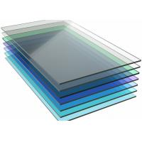 China Colored Monolithic Polycarbonate Sheet , Pergola Clear Flat Roof Panels wholesale