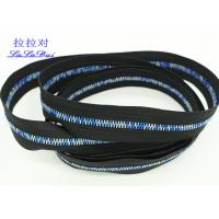 China Rainbow Teeth Long Chain Zipper In Roll Black Cotton Tape Customized For Clothes wholesale