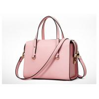 China Pink Color Fashion Ladies Handbags , PU handbag with shoulder belt OEM ODM wholesale