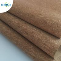 China Women Shoes Cork Leather Fabric Knitted Fabric Backing Customized Color wholesale
