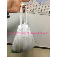 China HDPE / LDPE Clear Drawstring Plastic Bags For Supermarket / Hospital wholesale