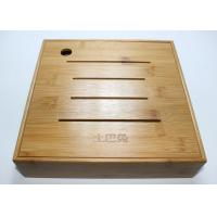 China Custom Square Gift Packaging Bamboo Display Box, Wooden Tea Storage Box With 4 Compartments And Lids wholesale