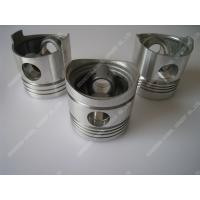 China Piston Single Cylinder Diesel Engine Parts Aluminum Piston Black / Silver Color wholesale