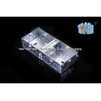 China 2- Gang British Standard Metal Electrical Conduit Box With PVC , Conduit Switch Box wholesale