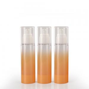 China Orange 50ml Cylinder Empty Plastic Lotion Bottles wholesale