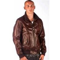 China 50 L knitted / knitting men's bomber 100% lamb skin leather jackets personalized on sale