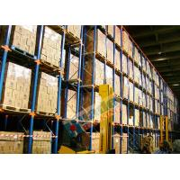 China Powder Coated Pallet Drive In And Drive Through Racking For Beverage Companies wholesale