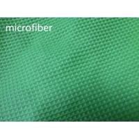 China Green 150cm Width Microfiber Cleaning Cloth 300gsm Density Waffle Fabric Absorbent wholesale