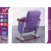 China 30 MM Thick Arm Theatre Seating Chairs 2.0 mm Powder Coated Metal Base Space Saving wholesale