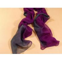 China 2013 new fashion purple and grey gradient color Hand Painted Silk Scarf/ chiffon scarves shawls wholesale