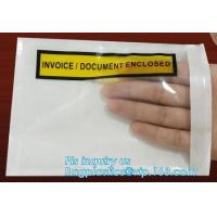 China Clear Adhesive Back, Packing List / Shipping Label Envelope Pouches, seal envelope courier bag express custom mailing ba on sale