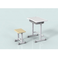 China Height Adjustable Colorful Primary Single Plastic Student Desk And Chair Set wholesale