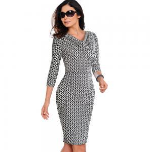 China Midi Sleeve Women Polyester Long Dress OEM ODM wholesale