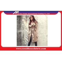 China Women Long Trench Jacket , Mid-Long Casual Cotton Polyster Windbreaker for Spring wholesale