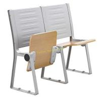 China Armless Waiting Room College Classroom Furniture / Floor Mounted Fold Up Chairs wholesale