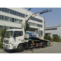 China 5 ton car carrier flatbed wrecker recovery tow truck with crane wholesale