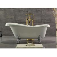 China Acrylic Double Ended Clawfoot Tub , Freestanding Clawfoot Tub Roll Top wholesale