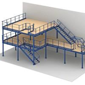 Storing Home  Pallet Racking Mezzanine Floors Plastic Warehouse Storage Portable