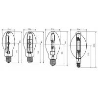 China ED28 400W Coated ANSI Standard Explosion-proof Metal Halide Lamp for Indoor and Outdoor wholesale