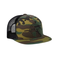 China Camouflage Flat Brim Awesome Trucker Hats For Hip Hop Dance wholesale