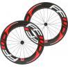 China 88mm Full Carbon Bike Wheels , 100% Carbon Fiber Front Rear Wheel 23mm Width 700C wholesale