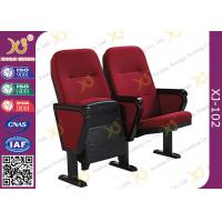 China VIP Public Foldable Movie Theater Stadium Seating Chairs With Writing Pad wholesale