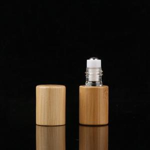China PETG 15ml Bamboo Roller Bottle For Eye Serum Hot Stamped wholesale