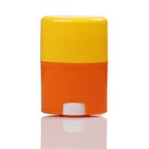 China 30g 50g 75g Orange and Yellow Twist-up Solid Sticker Deodorant Bottles wholesale