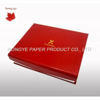 China Luxury Red Folded Cardboard Boxes , Custom Gift Packing Boxes on sale