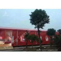 China Popular Red Color 20m Width Luxury Wedding Party Tent Marquee with Top and Wall Curtains wholesale