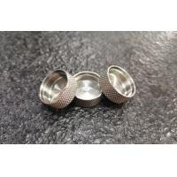 Buy cheap SUS304/1.4301 Stainless steel machined knobs with turning and diamond knurling from wholesalers